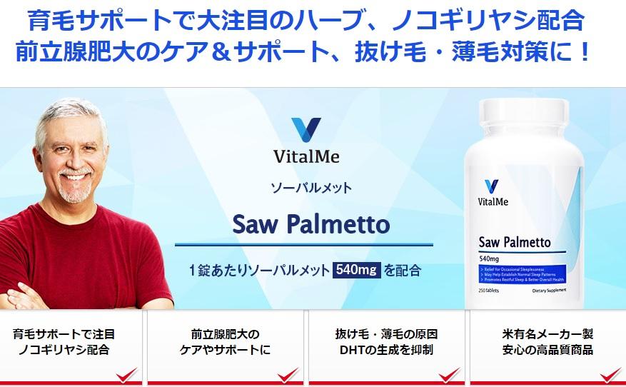ソーパルメット540mg・バイタルミー(VitalMe)